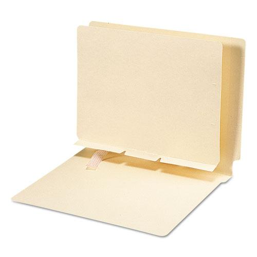 Self-Adhesive Folder Dividers for Top/End Tab Folders, Prepunched for Fasteners, Letter Size, Manila, 100/Box. Picture 3