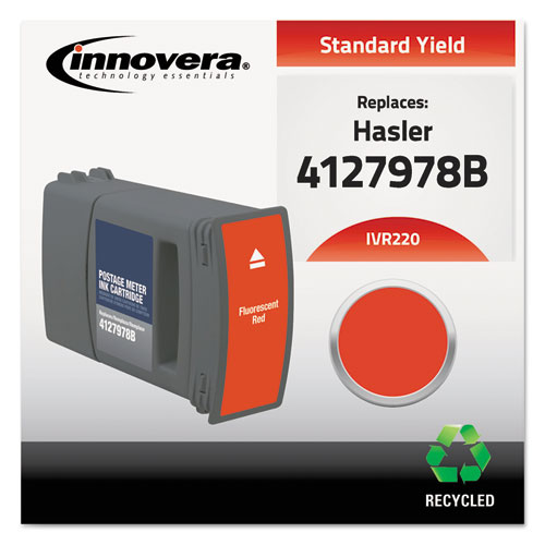 Compatible Red Postage Meter Ink, Replacement for Hasler WJ-220 (4127978B). Picture 1