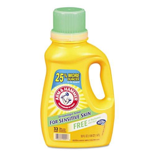 HE Compatible Liquid Detergent, Unscented, 50 oz Bottle. Picture 1