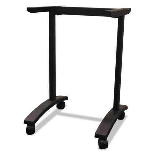 Alera Valencia Series Training Table T-Leg Base, 24 1/2w x 19 3/4d x 28 1/2h, Black. Picture 1