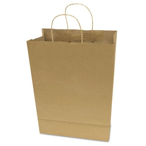 "Premium Shopping Bag, 12"" x 6.5"" x 17"", Brown Kraft, 50/Box. Picture 1"