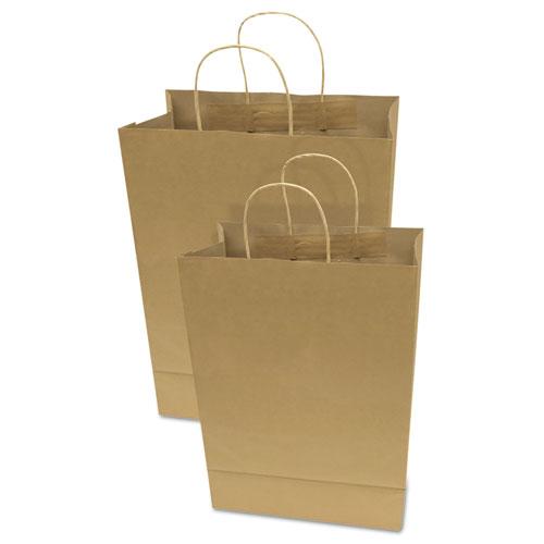 "Premium Shopping Bag, 12"" x 6.5"" x 17"", Brown Kraft, 50/Box. Picture 2"