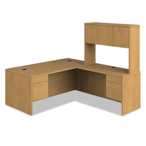 "10500 Series ""L"" Workstation Single Pedestal Desk, 66"" x 30"" x 29.5"", Harvest. Picture 2"
