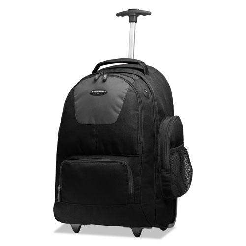 Rolling Backpack, 14 x 8 x 21, Black/Charcoal. Picture 2