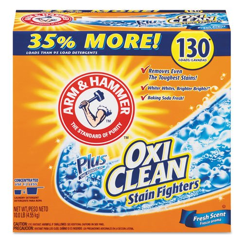 Power of OxiClean Powder Detergent, Fresh, 9.92lb Box, 3/Carton. Picture 1