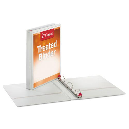 """Treated ClearVue Locking Slant-D Ring Binder, 3 Rings, 1"""" Capacity, 11 x 8.5, White. Picture 2"""