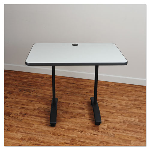 Alera Valencia Series Training Table T-Leg Base, 24 1/2w x 19 3/4d x 28 1/2h, Black. Picture 4