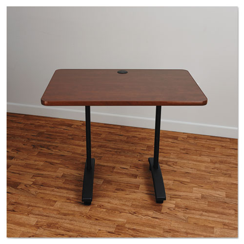 Alera Valencia Series Training Table T-Leg Base, 24 1/2w x 19 3/4d x 28 1/2h, Black. Picture 3