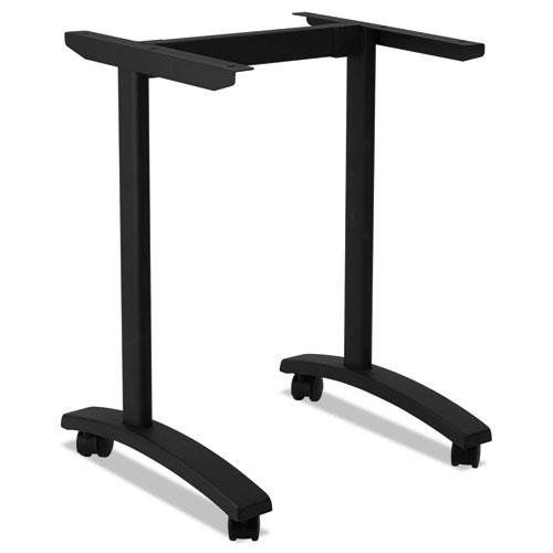 Alera Valencia Series Training Table T-Leg Base, 24 1/2w x 19 3/4d x 28 1/2h, Black. Picture 2