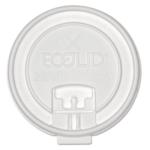 25% Recy Content Dual-Temp Lock Tab Lid w/Straw Slot, 10-20oz , 50/PK, 12 PK/CT. Picture 1