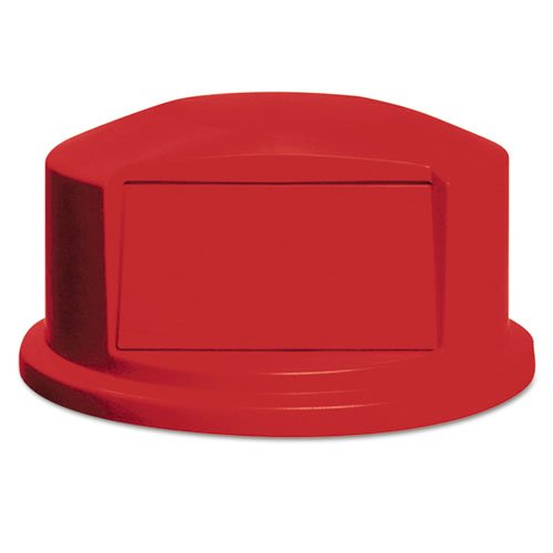 Round BRUTE Dome Top with Push Door, 24.81w x 12.63h, Red. Picture 1