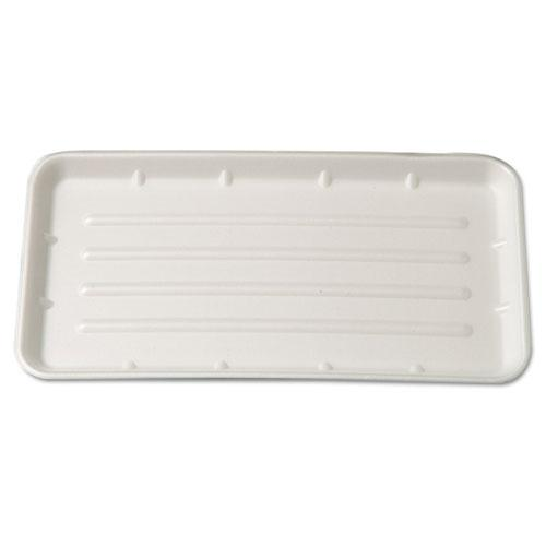 Supermarket Tray, Foam, Yellow, 8 x 14-3/4, 125/Bag, 2 Bags/Carton. Picture 1