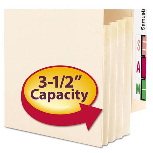 "Manila End Tab File Pockets, 3.5"" Expansion, Legal Size, Manila, 25/Box. Picture 2"