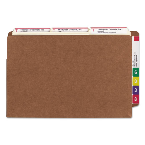 """Heavy-Duty Redrope End Tab TUFF Pockets, 3.5"""" Expansion, Legal Size, Redrope, 10/Box. Picture 3"""