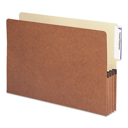 """Redrope Drop-Front End Tab File Pockets, 3.5"""" Expansion, Legal Size, Redrope, 10/Box. Picture 1"""