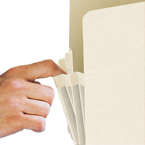 "Manila End Tab File Pockets, 3.5"" Expansion, Legal Size, Manila, 25/Box. Picture 3"