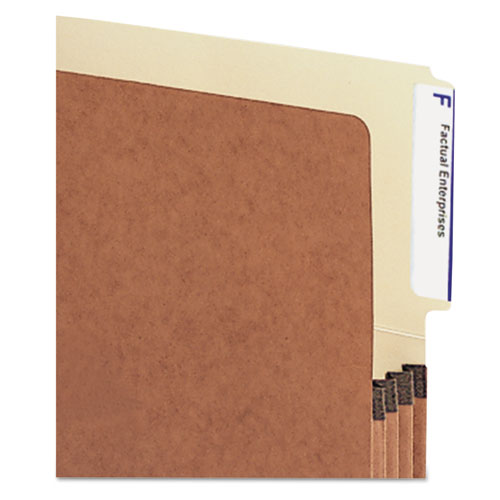 """Redrope Drop-Front End Tab File Pockets, 3.5"""" Expansion, Legal Size, Redrope, 10/Box. Picture 3"""