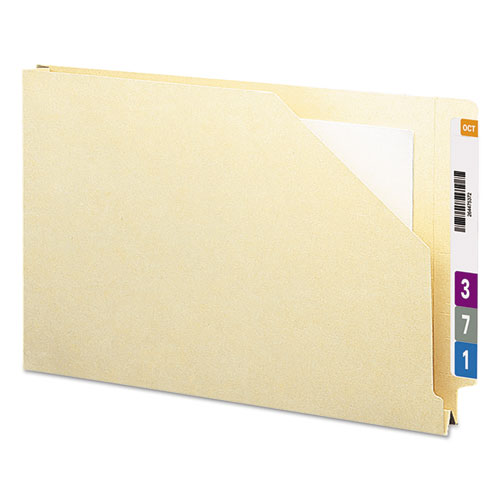 End Tab Jackets with Reinforced Tabs, Straight Tab, Legal Size, 14-pt Manila, 50/Box. Picture 1