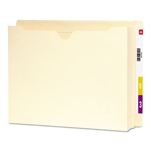 """Heavyweight End Tab File Jacket with 2"""" Expansion, Straight Tab, Letter Size, Manila, 25/Box. Picture 1"""