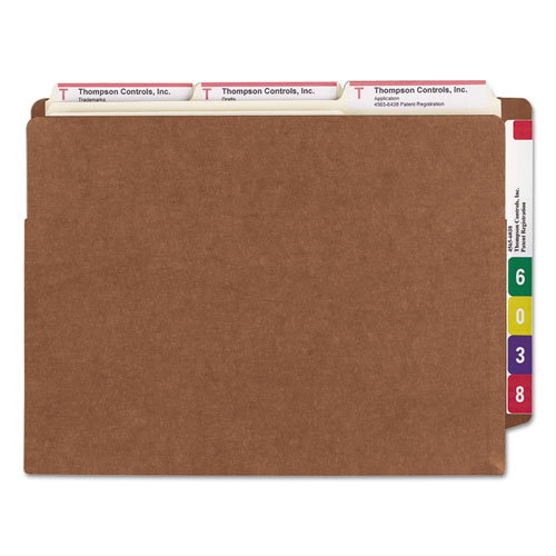 """Heavy-Duty Redrope End Tab TUFF Pockets, 7"""" Expansion, Letter Size, Redrope, 5/Box. Picture 2"""