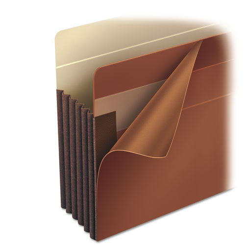 """Heavy-Duty Redrope End Tab TUFF Pockets, 7"""" Expansion, Letter Size, Redrope, 5/Box. Picture 3"""