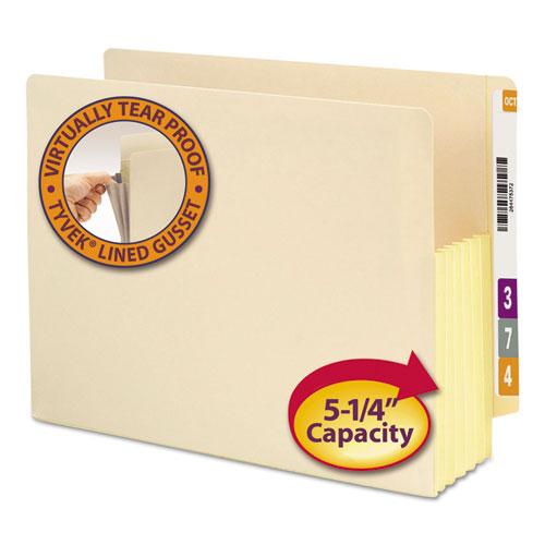 "Manila End Tab File Pockets, 5.25"" Expansion, Letter Size, Manila, 10/Box. Picture 1"