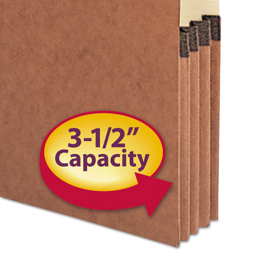 """Redrope Drop-Front End Tab File Pockets, 3.5"""" Expansion, Legal Size, Redrope, 10/Box. Picture 4"""