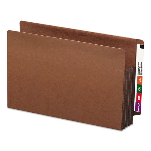 """Heavy-Duty Redrope End Tab TUFF Pockets, 3.5"""" Expansion, Legal Size, Redrope, 10/Box. Picture 4"""