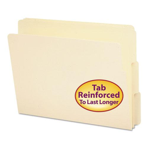 """Heavyweight Manila End Tab Folders, 9"""" Front, 1/3-Cut Tabs, Letter Size, 100/Box. Picture 1"""