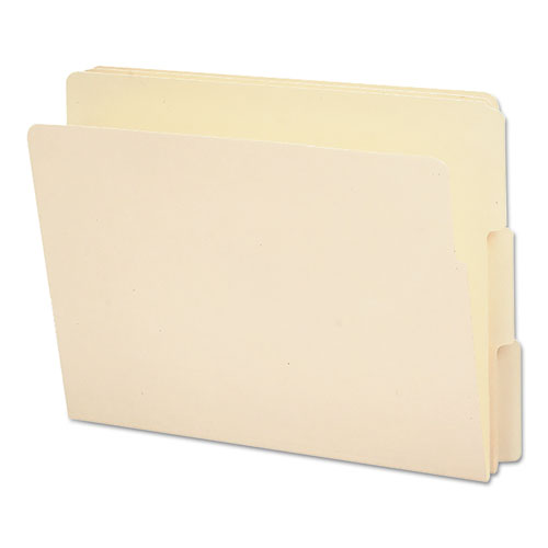 End Tab File Folders, 1/3-Cut Tabs, Letter Size, Manila, 100/Box. Picture 1