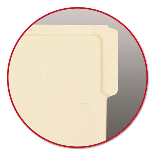 """Heavyweight Manila End Tab Folders, 9"""" Front, 1/3-Cut Tabs, Letter Size, 100/Box. Picture 2"""