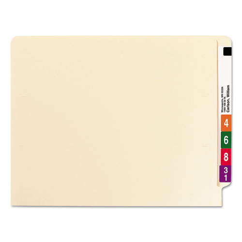 """Heavyweight Manila End Tab Folders, 9.5"""" Front, Straight Tab, Letter Size, 100/Box. Picture 4"""