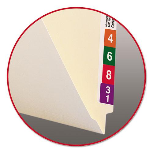"""Heavyweight Manila End Tab Folders, 9.5"""" Front, 1-Ply Straight Tab, Letter Size, 100/Box. Picture 3"""