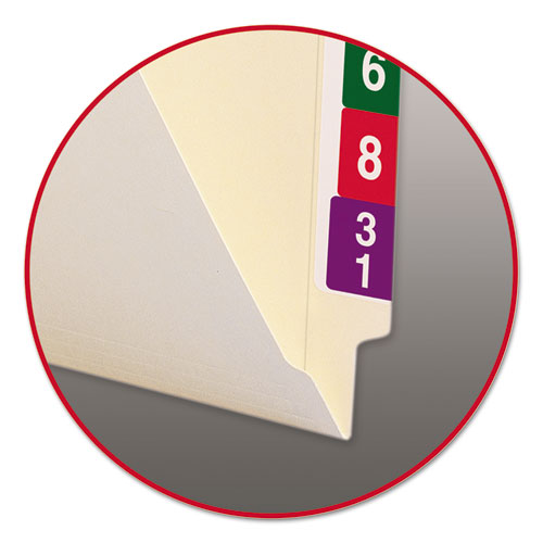"""Heavyweight Manila End Tab Folders, 9.5"""" Front, Straight Tab, Letter Size, 100/Box. Picture 5"""