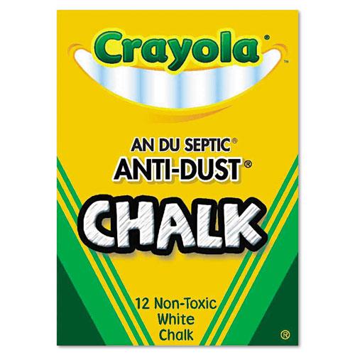 Nontoxic Anti-Dust Chalk, White, 12 Sticks/Box. Picture 2