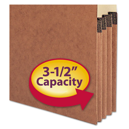 """Redrope Drop-Front End Tab File Pockets, 3.5"""" Expansion, Letter Size, Redrope, 10/Box. Picture 3"""