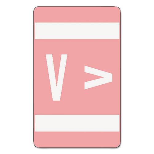 AlphaZ Color-Coded Second Letter Alphabetical Labels, V, 1 x 1.63, Pink, 10/Sheet, 10 Sheets/Pack. Picture 1