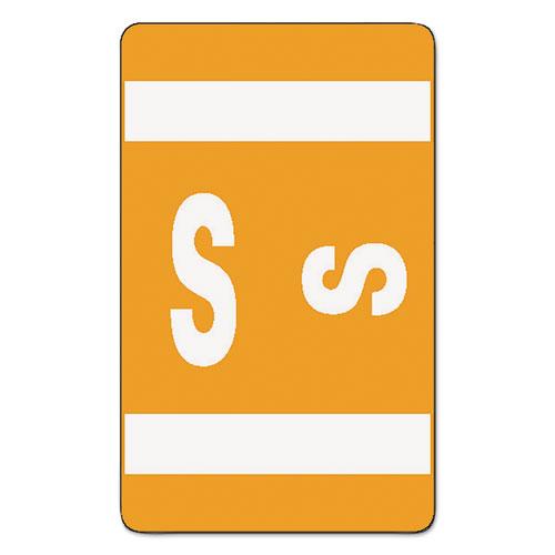 AlphaZ Color-Coded Second Letter Alphabetical Labels, S, 1 x 1.63, Orange, 10/Sheet, 10 Sheets/Pack. Picture 1