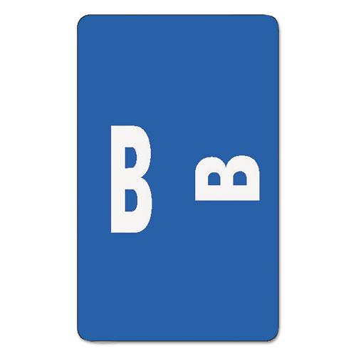AlphaZ Color-Coded Second Letter Alphabetical Labels, B, 1 x 1.63, Dark Blue, 10/Sheet, 10 Sheets/Pack. Picture 1