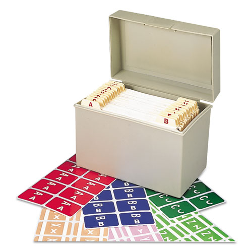 AlphaZ Color-Coded Labels Starter Set, A-Z, 1 x 1.63, Assorted, 10/Sheet, 220 Sheets/Box. Picture 1