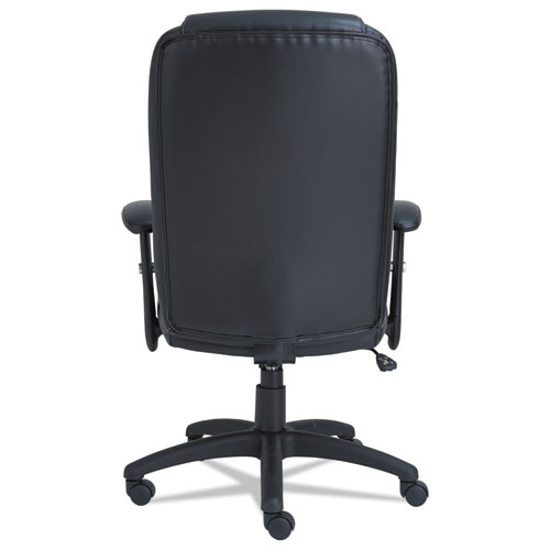 Alera CC Series Executive High-Back Swivel/Tilt Bonded Leather Chair, Supports up to 275 lbs., Black Seat/Back, Black Base. Picture 3