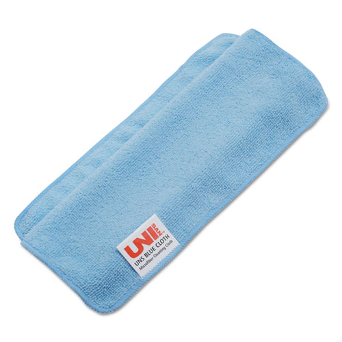 Lightweight Microfiber Cleaning Cloths, Blue,16 x 16, 24/Pack. Picture 2