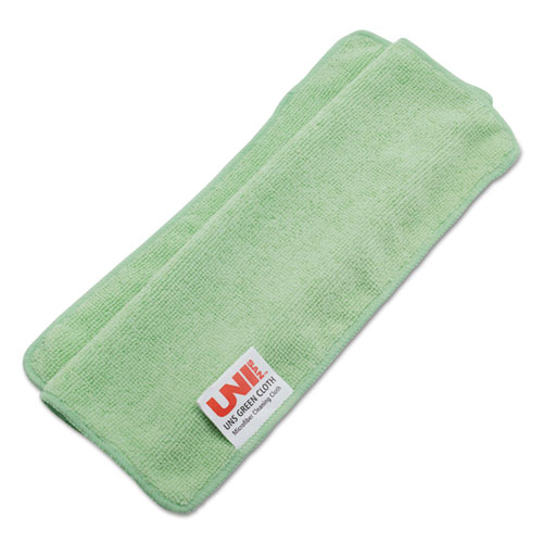Lightweight Microfiber Cleaning Cloths, Green, 16 x 16, 24/Pack. Picture 2
