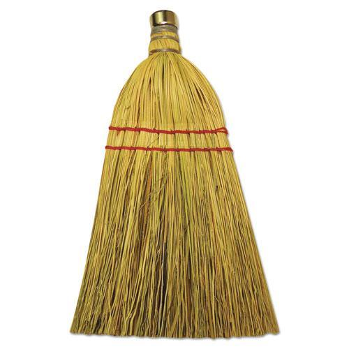 "Mixed Fiber Whisk Brooms, Corn/Synthetic Fiber, 12"", Natural, 12/Carton. Picture 1"