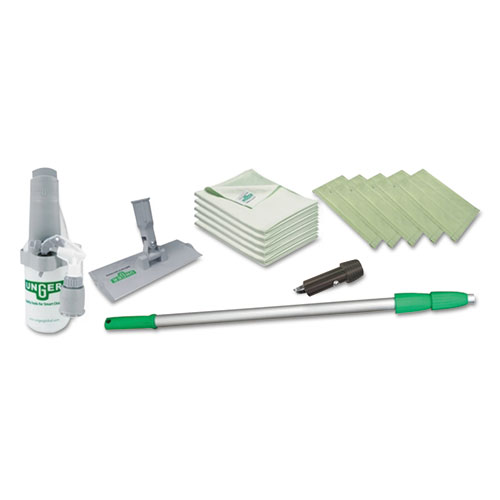 """Indoor Window Cleaning Kit, Aluminum, 72"""" Extension Pole With 8"""" Pad Holder. Picture 1"""