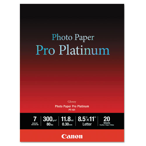 Photo Paper Pro Platinum, 11.8 mil, 8.5 x 11, High-Gloss White, 20/Pack. Picture 1