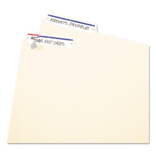 """Printable 4"""" x 6"""" - Permanent File Folder Labels, 0.69 x 3.44, White, 7/Sheet, 36 Sheets/Pack, (5200). Picture 2"""