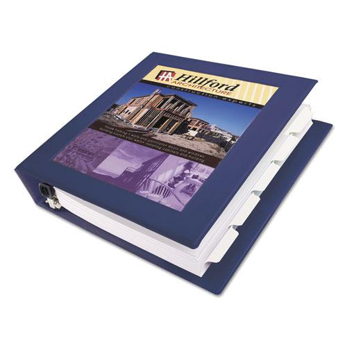 """Framed View Heavy-Duty Binders, 3 Rings, 1.5"""" Capacity, 11 x 8.5, Navy Blue. Picture 1"""