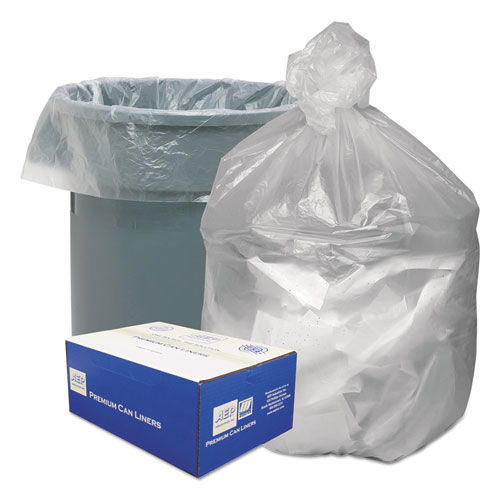 """Waste Can Liners, 30 gal, 8 microns, 30"""" x 36"""", Natural, 500/Carton. Picture 1"""
