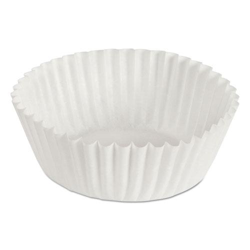 """Fluted Bake Cups, 1 1/8"""" x 1 1/8"""" x 1 3/4"""", White, 500/Pack, 20 Packs/Carton. Picture 1"""